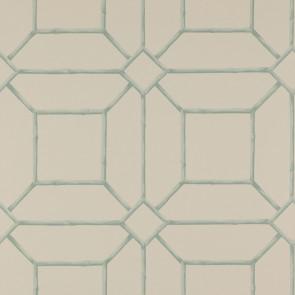 Colefax and Fowler - Summer Palace - Garden Trellis 7947/03 Aqua/Cream
