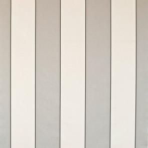 Dominique Kieffer - Larges Rayures de Coton - Gris clair et blanc 17183-001