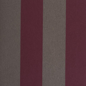 Casamance - Hampton Garden - Boxwood Rayure Bicolore Aubergine 9380599