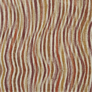 Casamance - Antipodes - Macquerie Rayures Ondulees Orange Prune 9740135