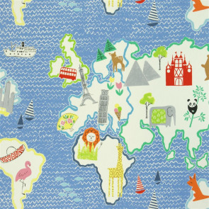 Designers Guild - Around The World - Cobalt - F1825-01