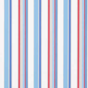 Jane Churchill - Get Happy - Disco Stripe - J142W-04 Blue/Red