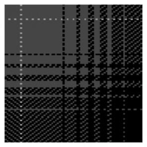 Kymo - The Loft - GLEN hi land Tencel 4036 pure black, anthracite & pure grey