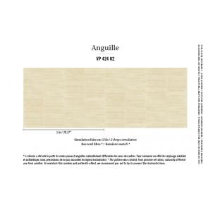 Élitis - Anguille big croco galuchat - Anguille - VP 424 02 Or blanc !