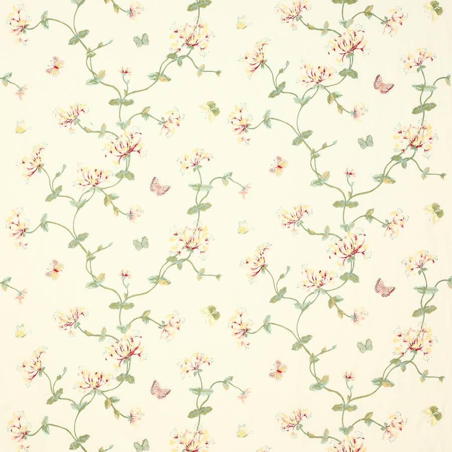 colefax and fowler - honeysuckle garden - f4609/02 pink/green
