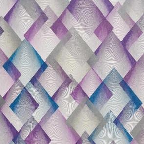 Casamance - Dandy - Dessin Losange Catwalk Violet Bleu Gris 72370584