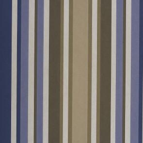 Casamance - Hampton Garden - Anemone Rayures Bleu 9370148