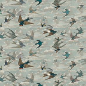 John Derian - Chimney Swallows - FJD6009/01 Sky Blue