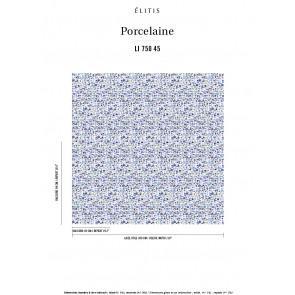 Élitis - Porcelaine - Bleus du ciel et de la mer LI 750 45