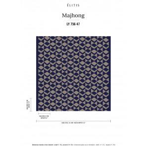 Élitis - Mahjong - La nuit est douce LY 756 47